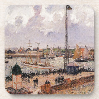 The Inner Harbor, Havre by Camille Pissarro Coaster