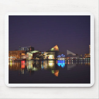 The Inner Harbor of Baltimore at Night Mouse Pad