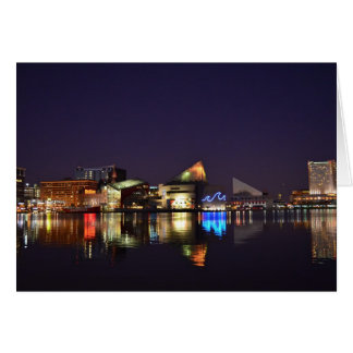 The Inner Harbor of Baltimore Greeting Card