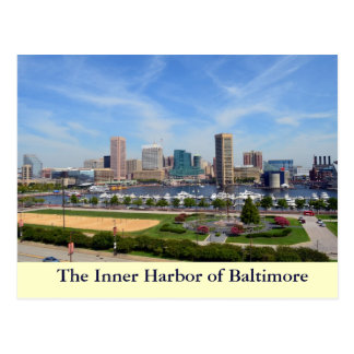 The Inner Harbor of Baltimore Post Cards
