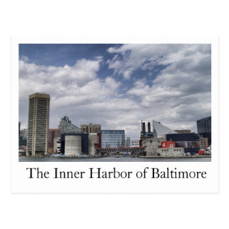 The Inner Harbor of Baltimore Postcard