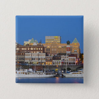 The inner harbour at Victoria British Columbia Button
