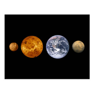 The Inner Planets Postcard