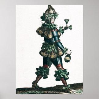 The Innkeeper, allegorical costume design Poster