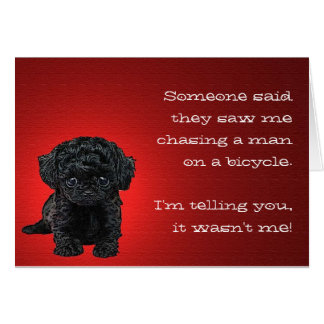 The Innocent Pup Greeting Card