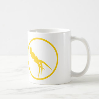 "The ""inordinately fond of invertebrate""-badge coffee mug"