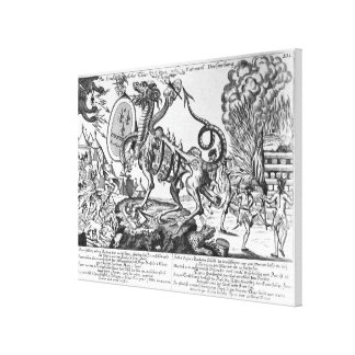 The insatiable animal of the National Assembly Canvas Print
