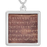 The Inscription from the sarcophagus of Square Pendant Necklace