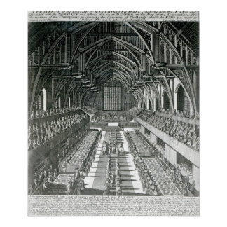 The Inside of Westminster Hall Poster
