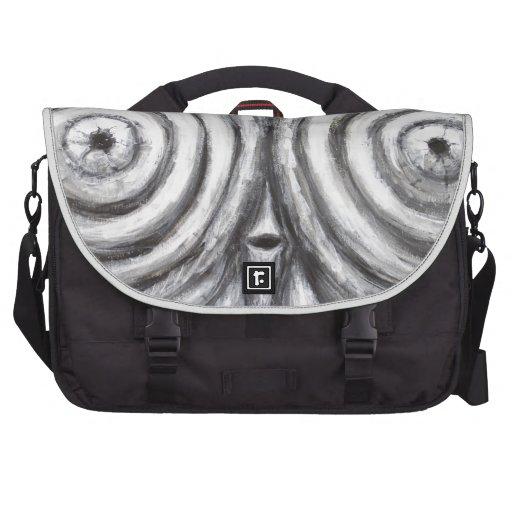 The Insomnia Penguin (odd surrealism) Laptop Bag