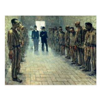 The Inspection (oil on canvas) Postcard