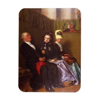 The Inspiring Sermon (oil on canvas) Rectangular Photo Magnet