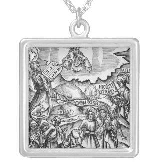 The Institution of Languages Square Pendant Necklace