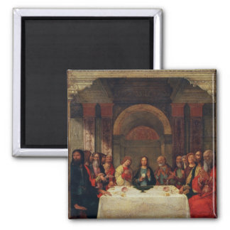 The Institution of the Eucharist, c.1490 2 Inch Square Magnet
