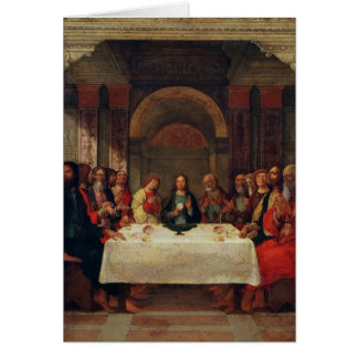 The Institution of the Eucharist, c.1490 Card