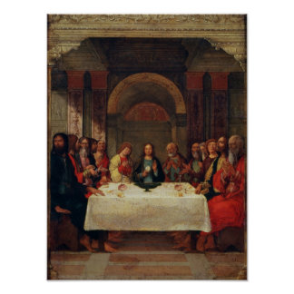 The Institution of the Eucharist, c.1490 Poster