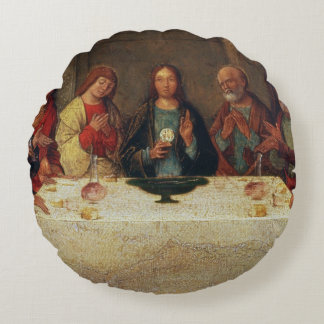 The Institution of the Eucharist, c.1490 Round Pillow