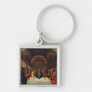 The Institution of the Eucharist, c.1490 Silver-Colored Square Keychain
