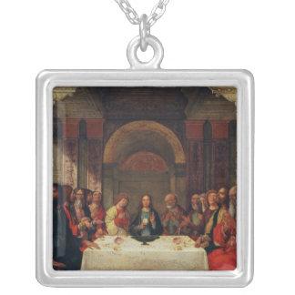 The Institution of the Eucharist, c.1490 Square Pendant Necklace