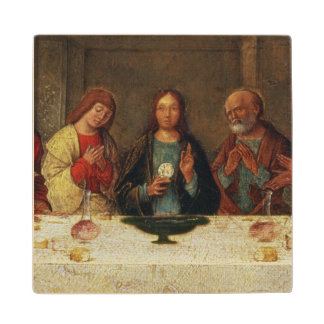 The Institution of the Eucharist, c.1490 Wooden Coaster