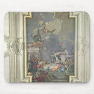 The Institution of the Rosary by St. Dominic (fres Mouse Pad