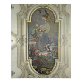 The Institution of the Rosary by St. Dominic (fres Poster