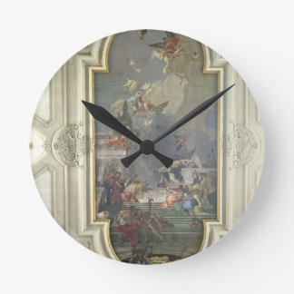 The Institution of the Rosary by St. Dominic (fres Round Clock