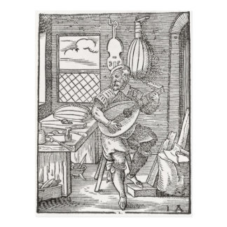 The Instrument Maker's Workshop, c.1570 Postcard