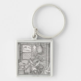 The Instrument Maker's Workshop, c.1570 Silver-Colored Square Keychain