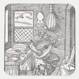 The Instrument Maker's Workshop, c.1570 Square Sticker