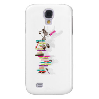 The Intellectual Donkey on top of a tower of books Samsung Galaxy S4 Case