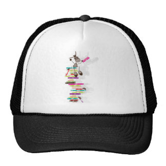 The Intellectual Donkey on top of a tower of books Trucker Hat