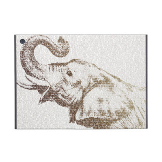The Intellectual Elephant - typography art iPad Mini Cover
