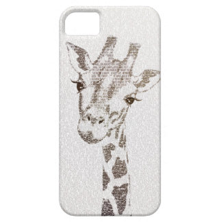 The Intellectual Giraffe - typography art iPhone SE/5/5s Case