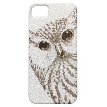 The Intellectual Owl - typography art - iphone5 iPhone SE/5/5s Case