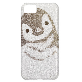 The Intellectual Pengui - typography art - iphone5 iPhone 5C Cases