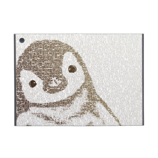 The Intellectual Penguin - typography art Covers For iPad Mini