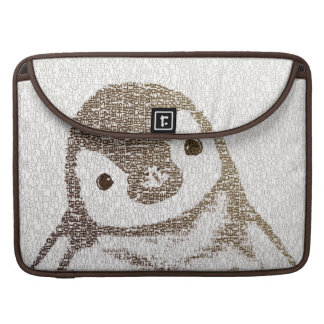 The Intellectual Penguin - typography art Sleeve For MacBook Pro