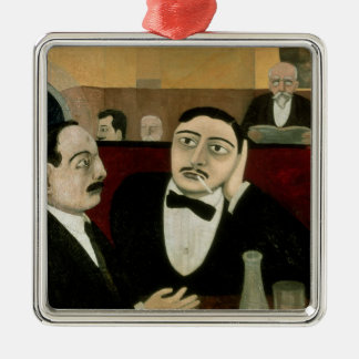 The Intellectuals at the Cafe Rotonde, 1916 Metal Ornament