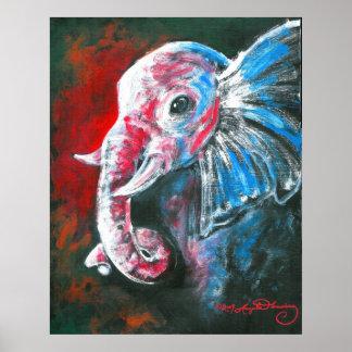 The Intelligent Elegant Elephant Poster