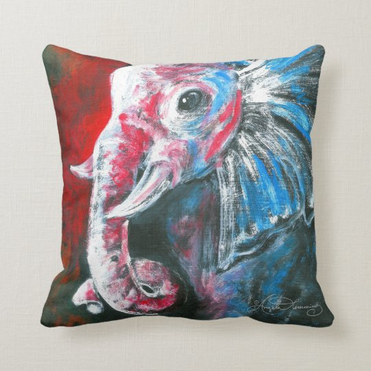 The Intelligent Elegant Elephant Throw Pillow Zazzle Com