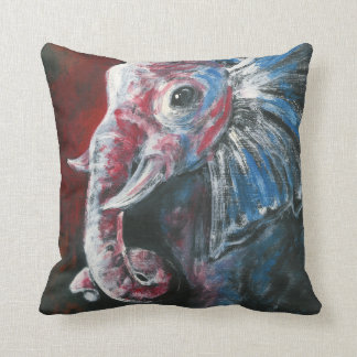 The Intelligent Elegant Elephant Throw Pillow