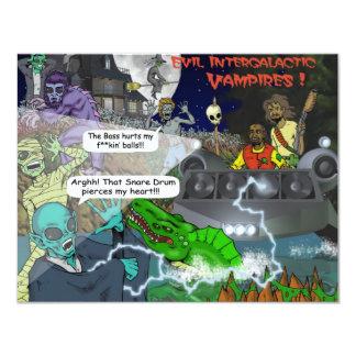 The Intergalactic Vampires Stickers Card