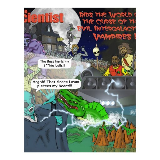 The Intergalactic Vampires Stickers Personalized Flyer