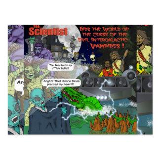 The Intergalactic Vampires Stickers Postcard