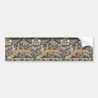 The interior of a kabuki theater byTorii,Kiyotsune Car Bumper Sticker