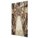 The interior of a second-hand bookshop Sweden. Canvas Print