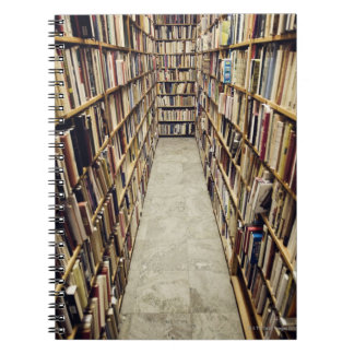 The interior of a second-hand bookshop Sweden. Spiral Notebooks