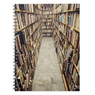 The interior of a second-hand bookshop Sweden. Notebook