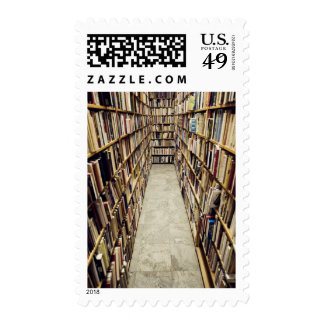 The interior of a second-hand bookshop Sweden Stamp